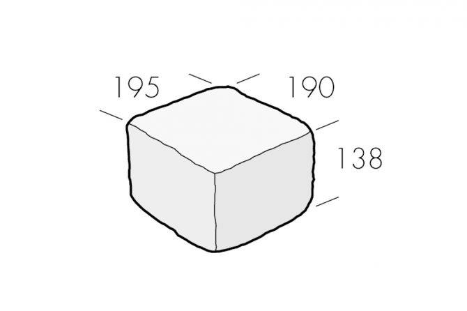 Rustik Block Halvblock