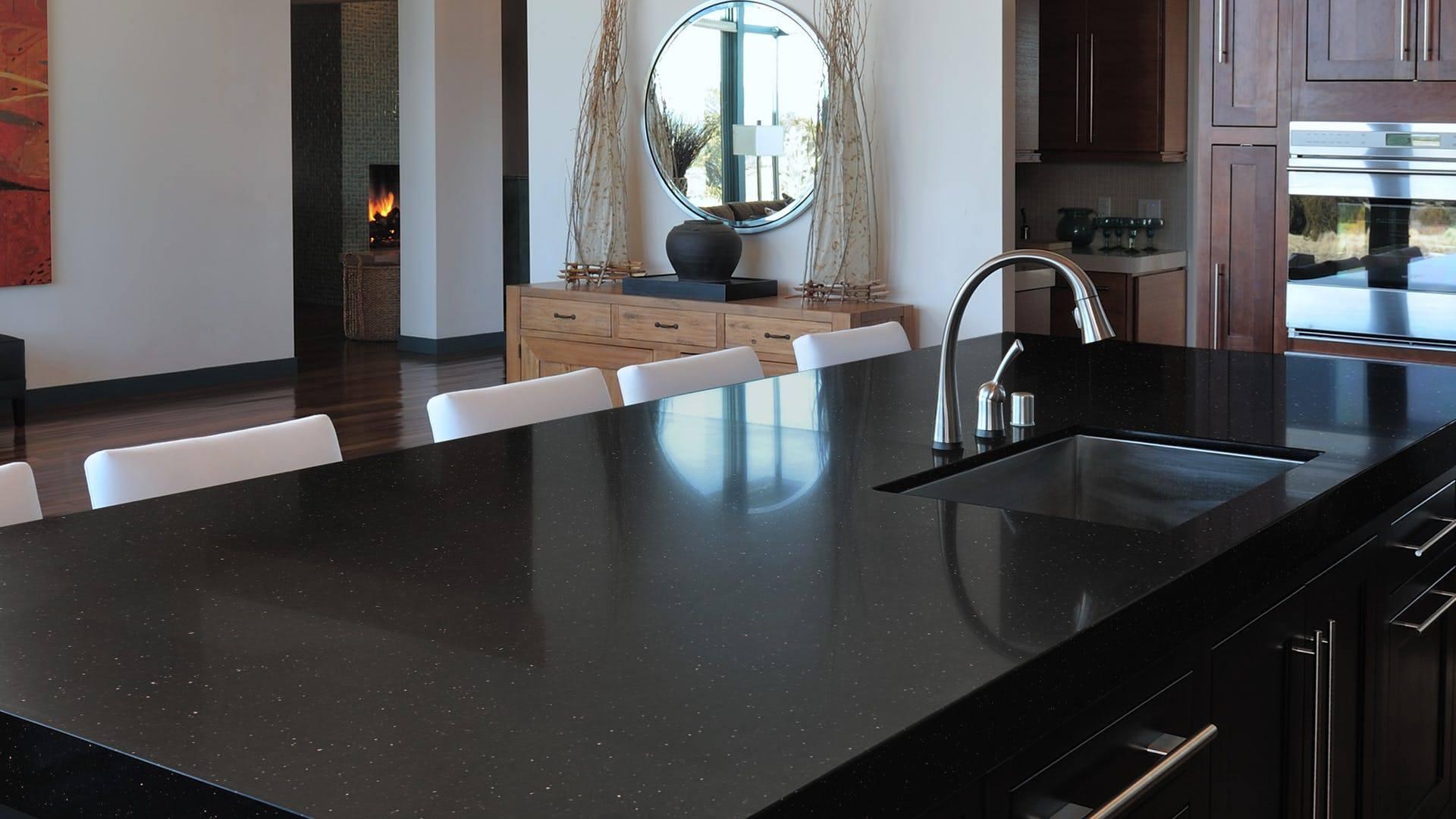 bänkskiva svart granit